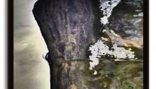 GROSJEAN Francis La falaise tirage sur Dibond 80x60cm caisse américaine noire