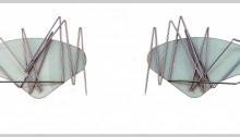 STERN Jean Bergsehen, Custode verre sécurit, aluminium et tendeurs 2 x (65 x 35 x 3cm) 2009